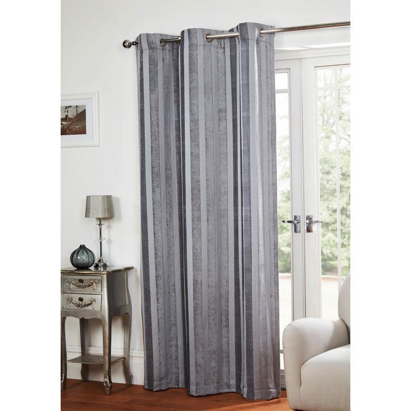 Manhattan Chenille Stripe Panel 54 X 86 Quot Curtains B Amp M