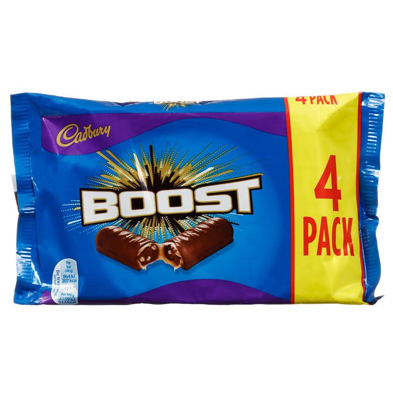 Cadbury Boost 4pk 160g Chocolate Chocolate Multipack