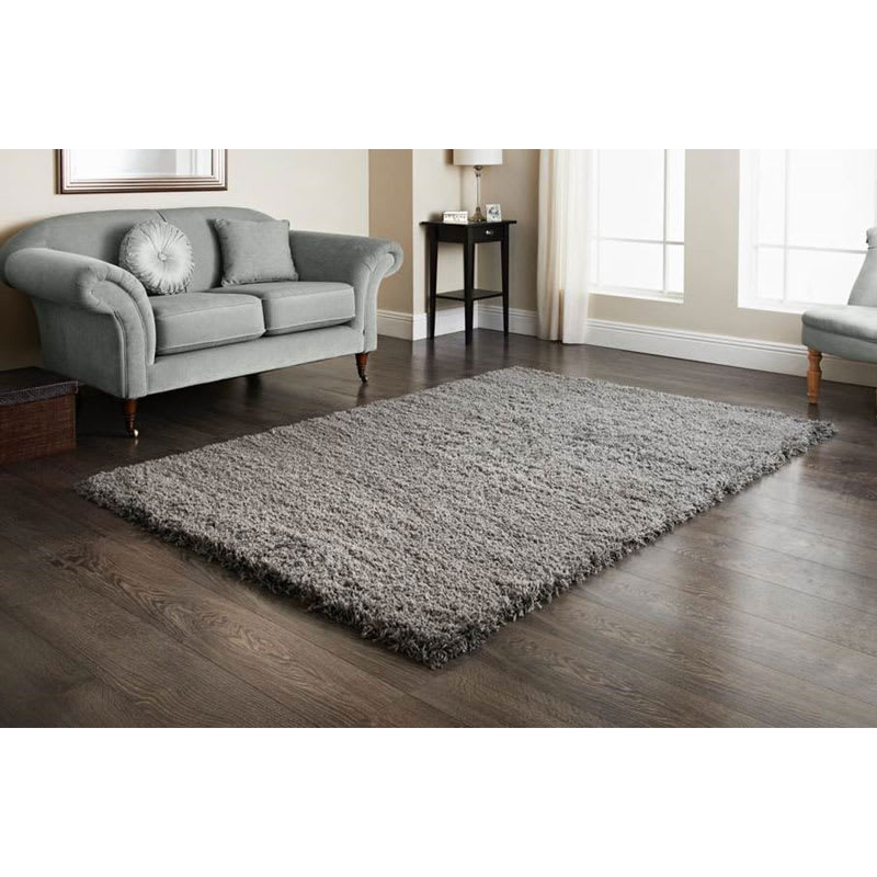 Furness Grey Shaggy Rug 110x160cm Home Decor Rugs B Amp M