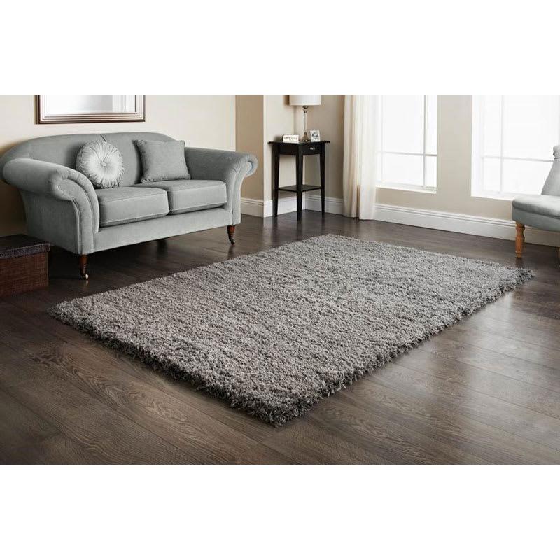 Furness Grey Shaggy Rug 110x160cm Home Decor Rugs B Amp M