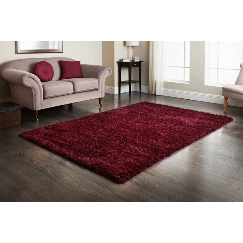 furness red shaggy rug 160 x 230cm home decor rugs b m. Black Bedroom Furniture Sets. Home Design Ideas