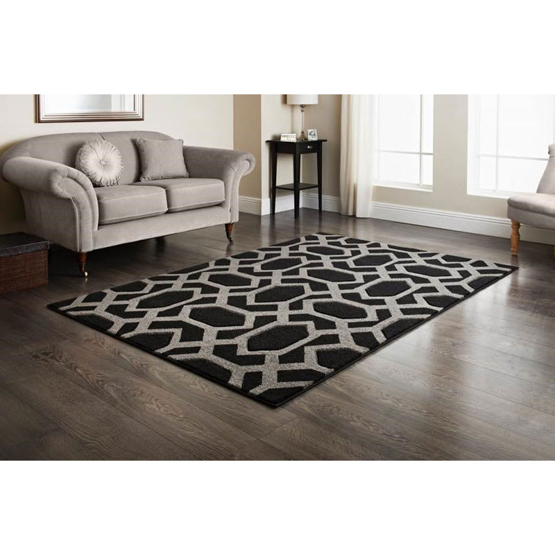 Gatsby Tile Hand Carved Rug 110x160cm Home Decor Rugs B Amp M