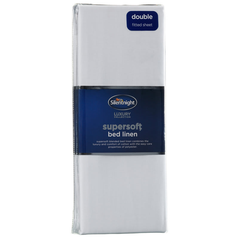 317192 Silentnight Supersoft Bed Linen Double Fitted Sheet