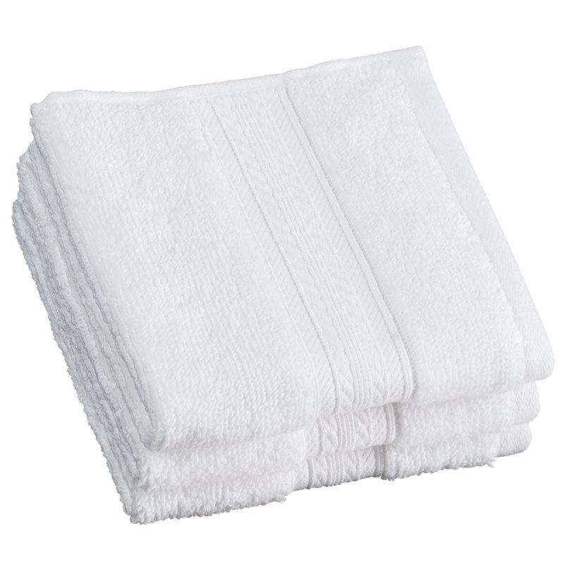 Signature Zero Twist Face Cloth 3pk White Bathroom