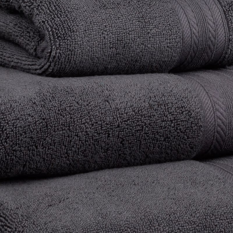 Signature Zero Twist Hand Towel - Charcoal