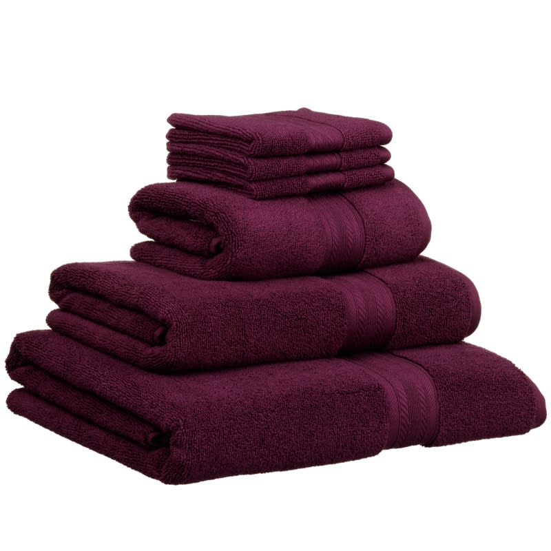 Signature Zero Twist Hand Towel Plum Bathroom B Amp M