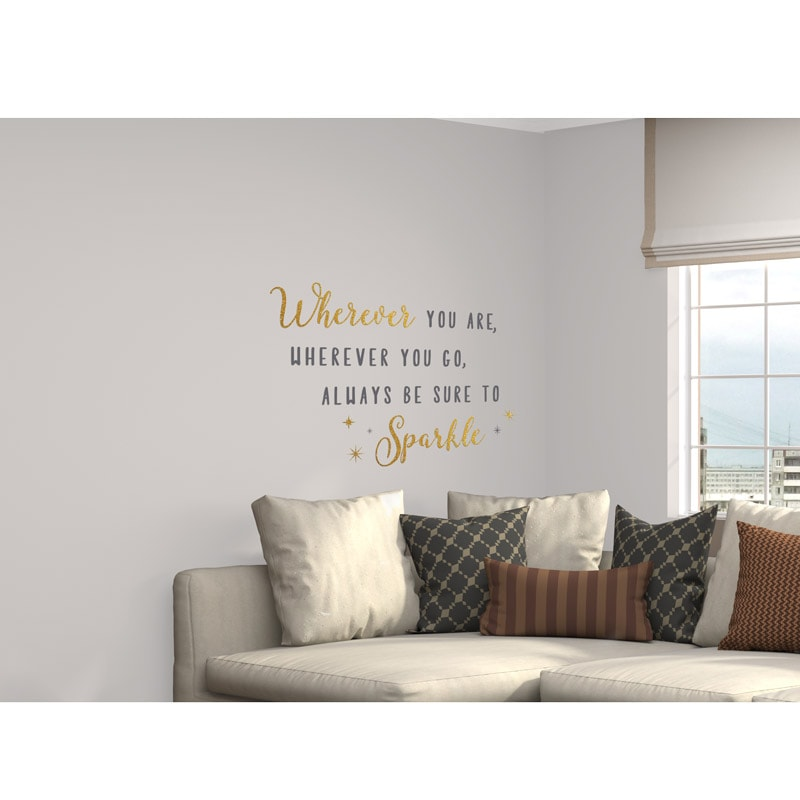 Glitter Wall Sticker Always Be Sure To Sparkle Gold