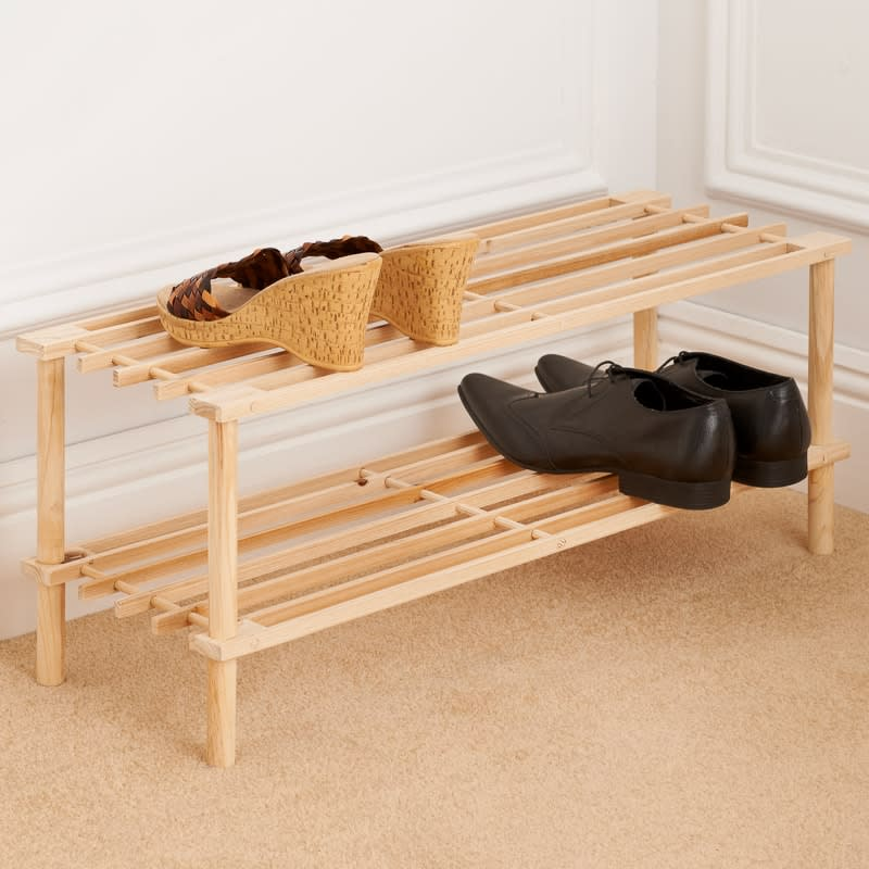 Wooden Kids Shoe Rack