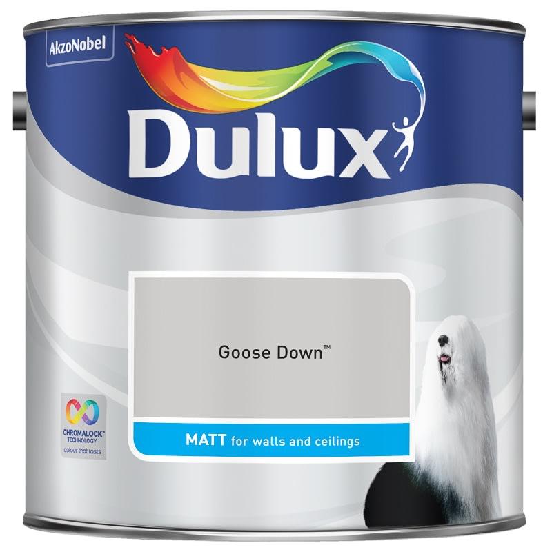 dulux matt emulsion goose down 2 5l painting decorating. Black Bedroom Furniture Sets. Home Design Ideas