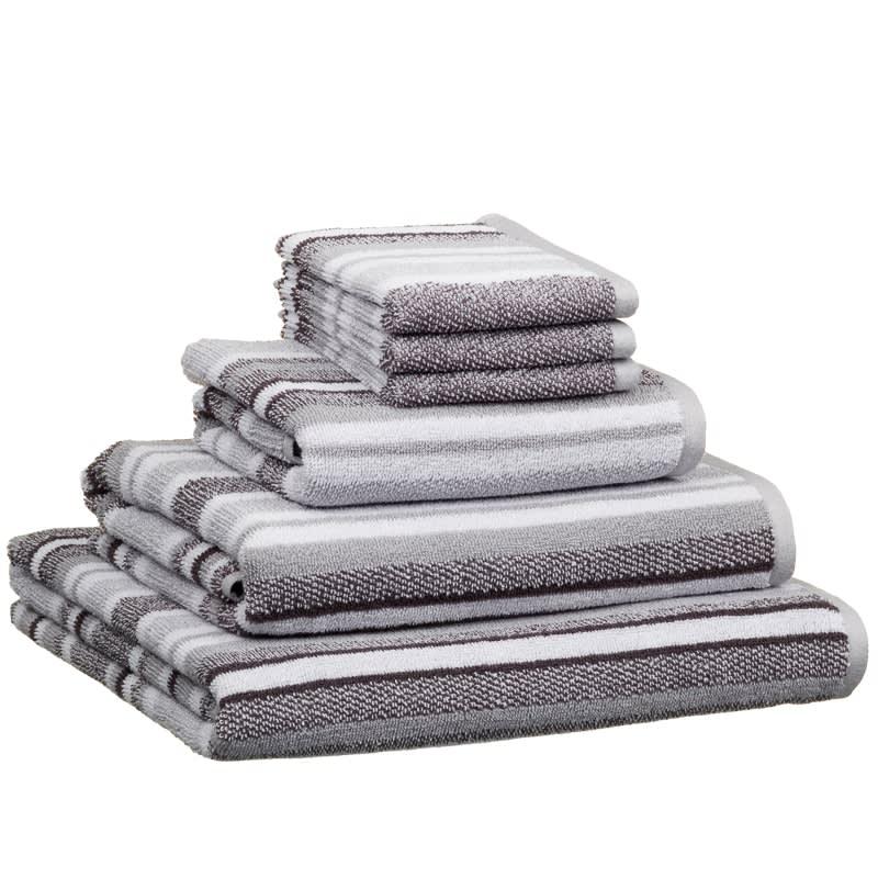 Newbury Stripe Bath Towel Bathroom Textiles BM Stores