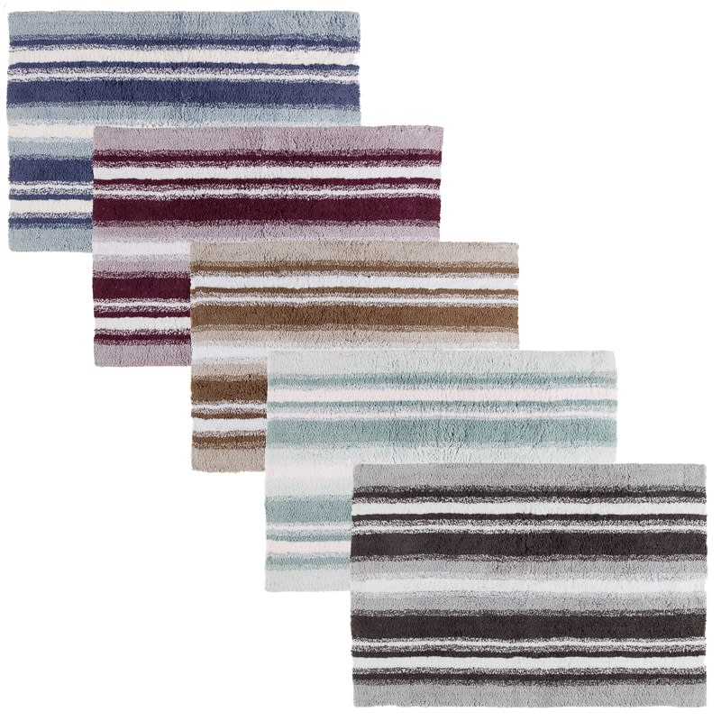 Newbury Stripe Oversized Bath Mat Home Bathroom B Amp M