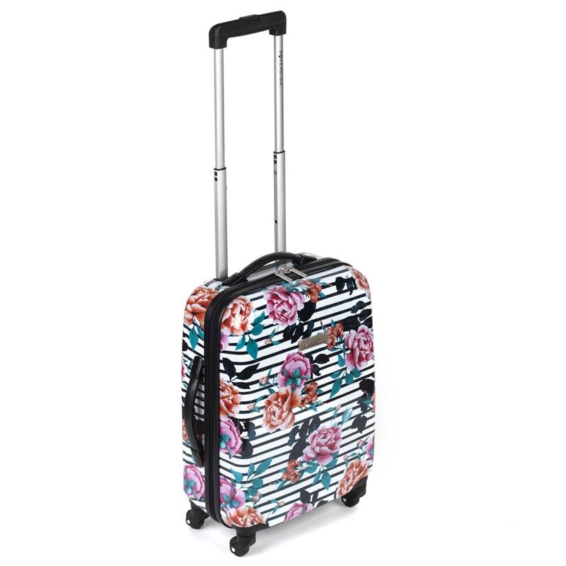 sovereign suitcase 55cm floral stripe luggage b m. Black Bedroom Furniture Sets. Home Design Ideas