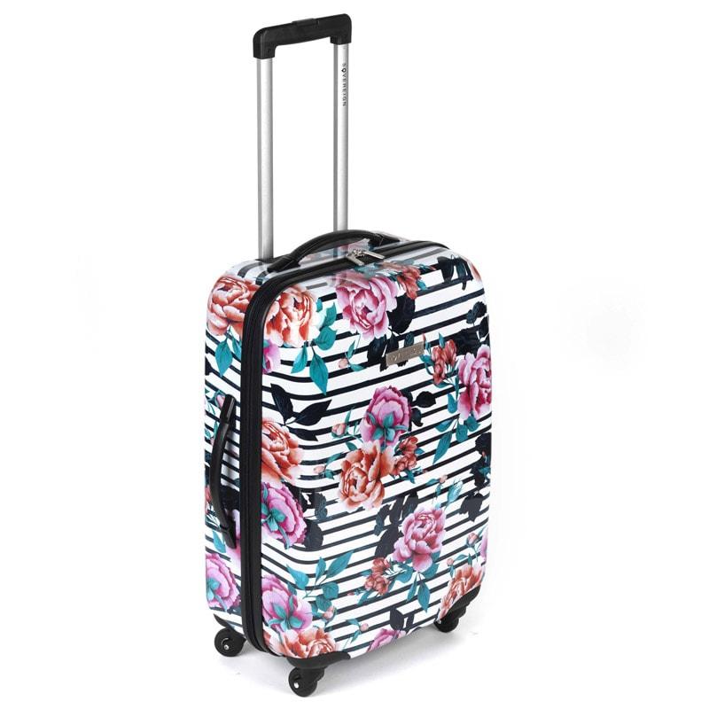 sovereign suitcase 69cm floral stripe luggage b m. Black Bedroom Furniture Sets. Home Design Ideas