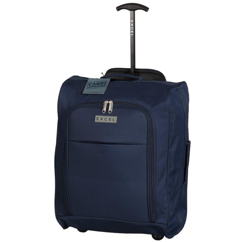 excel suitcase foldable cabin trolley bag luggage b m. Black Bedroom Furniture Sets. Home Design Ideas