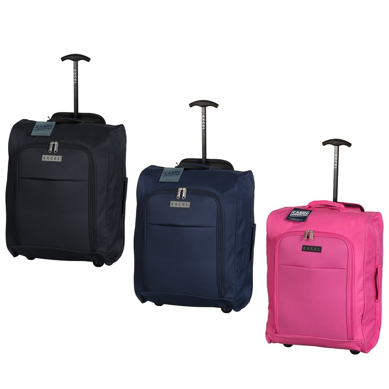 2c88a3cd9482 Excel Suitcase - Foldable Cabin Trolley Bag