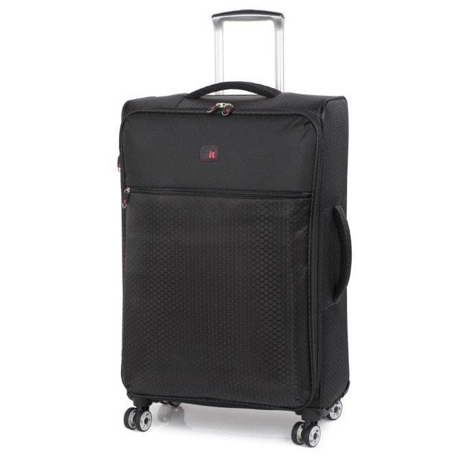 the lite ultra lightweight suitcase 70cm black luggage. Black Bedroom Furniture Sets. Home Design Ideas