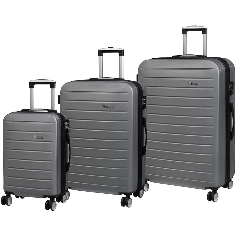 legion silver suitcase 71cm luggage b m. Black Bedroom Furniture Sets. Home Design Ideas