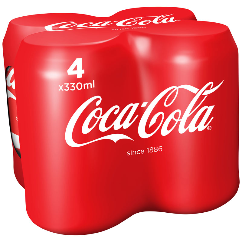 Coca cola 4 x 330ml coca cola soft drink b m stores for Coke can heater