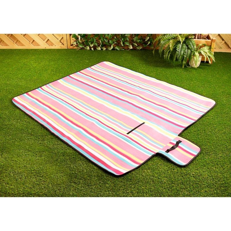 Picnic Rug Sports Direct: Fleece Picnic Blanket - Colour Stripe