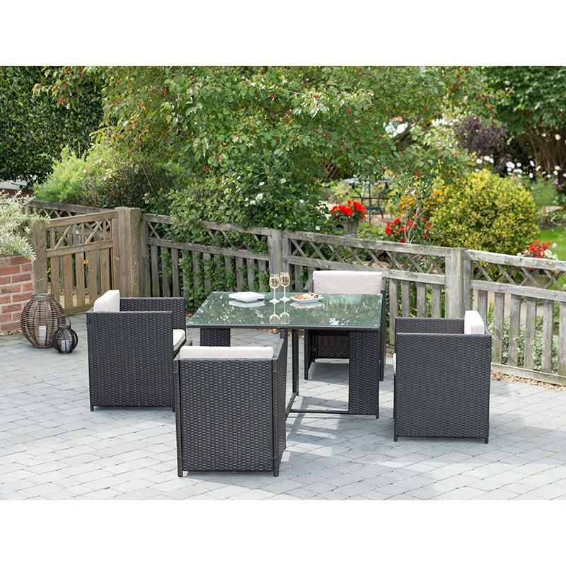 click on image to enlarge. Venice Cube Rattan Furniture Set   Garden Furniture