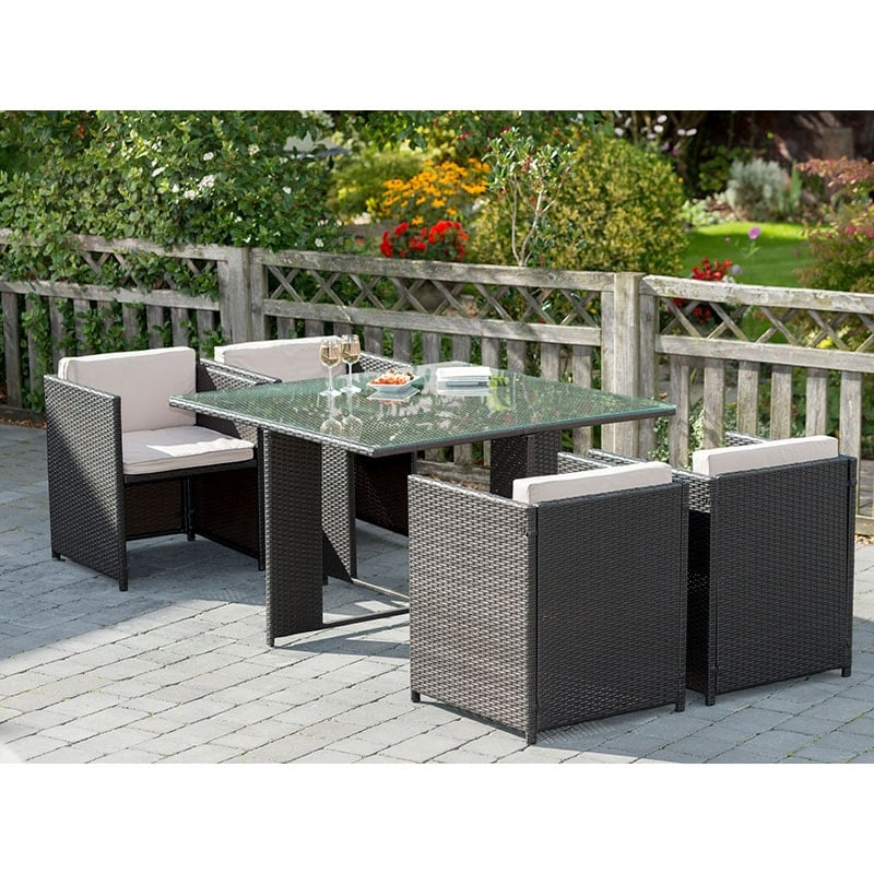 click on image to enlarge. Venice Cube Rattan Furniture Set   Garden Furniture