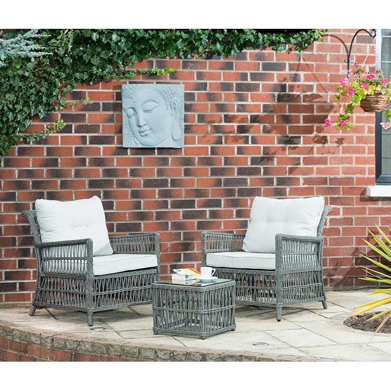 Hertfordshire Bistro Set 3pc | Garden Furniture - B&M