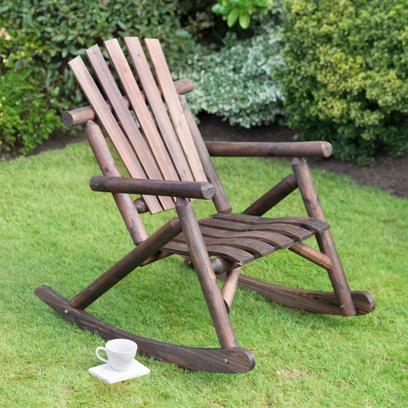 garden wood style outdoor chair furniture and antique country rocker vintage patio american item adult solid wooden recliner colors rocking