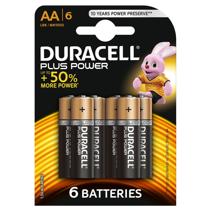 Duracell Plus Power Aa Batteries 6pk Electronics B Amp M