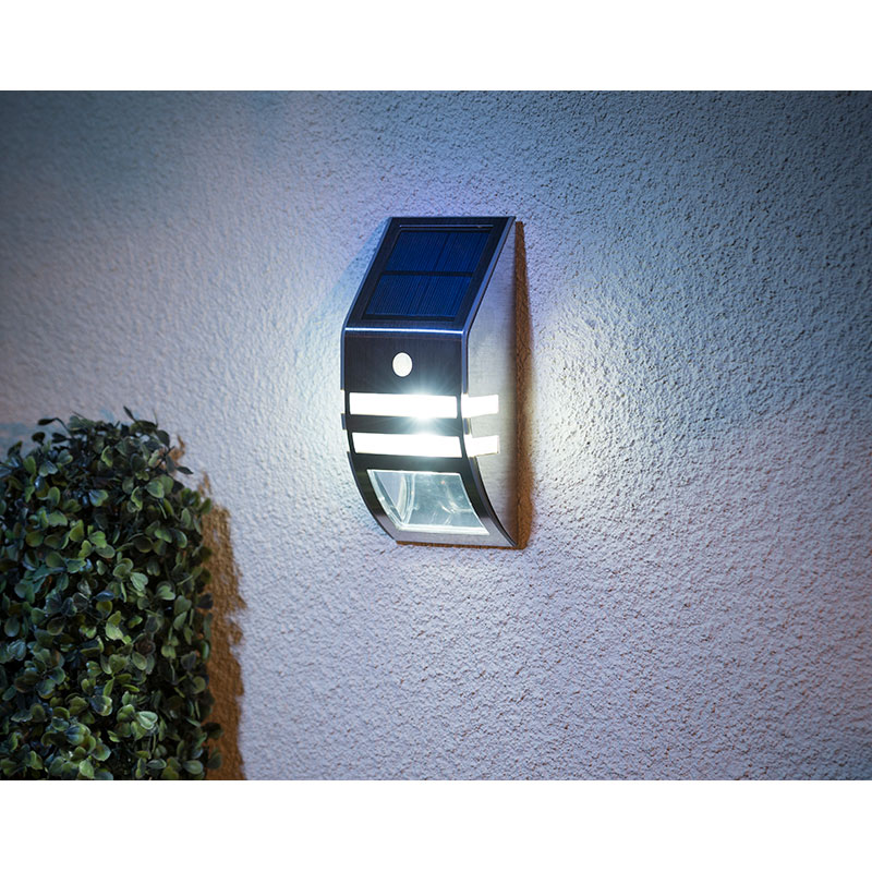 Pir Sensor Stainless Steel Wall Light Garden Solar Lights