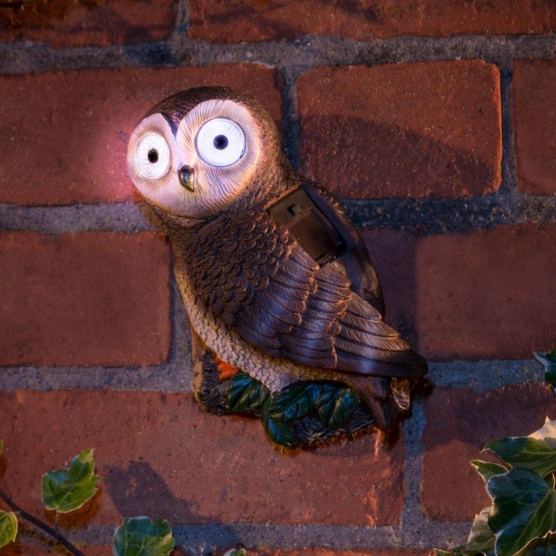 Solar Powered Garden Owl Solar Lighting B Amp M