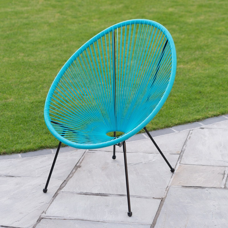string moon chair bright blue garden furniture b m. Black Bedroom Furniture Sets. Home Design Ideas