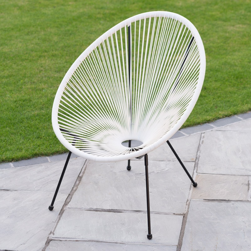 String Moon Chair White Garden Furniture B Amp M