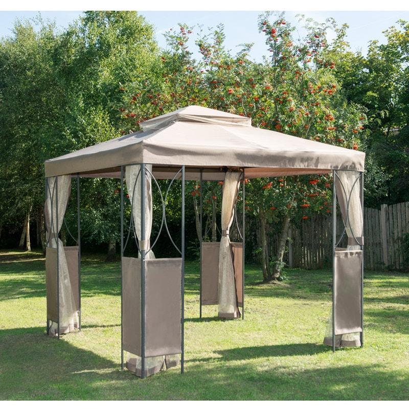 Large Outdoor Gazebo Side Curtain Steel Frame Showerproof Canopy Sun Shade BBQ 1