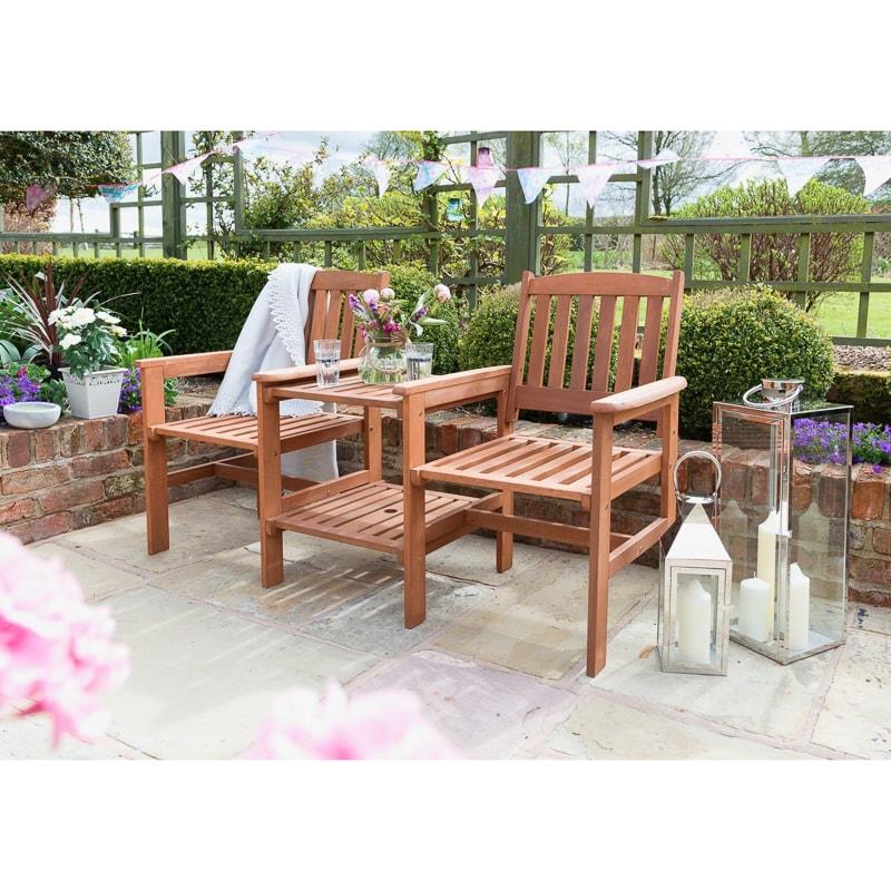 Jakarta Companion Wooden Garden Set Patio Set B M