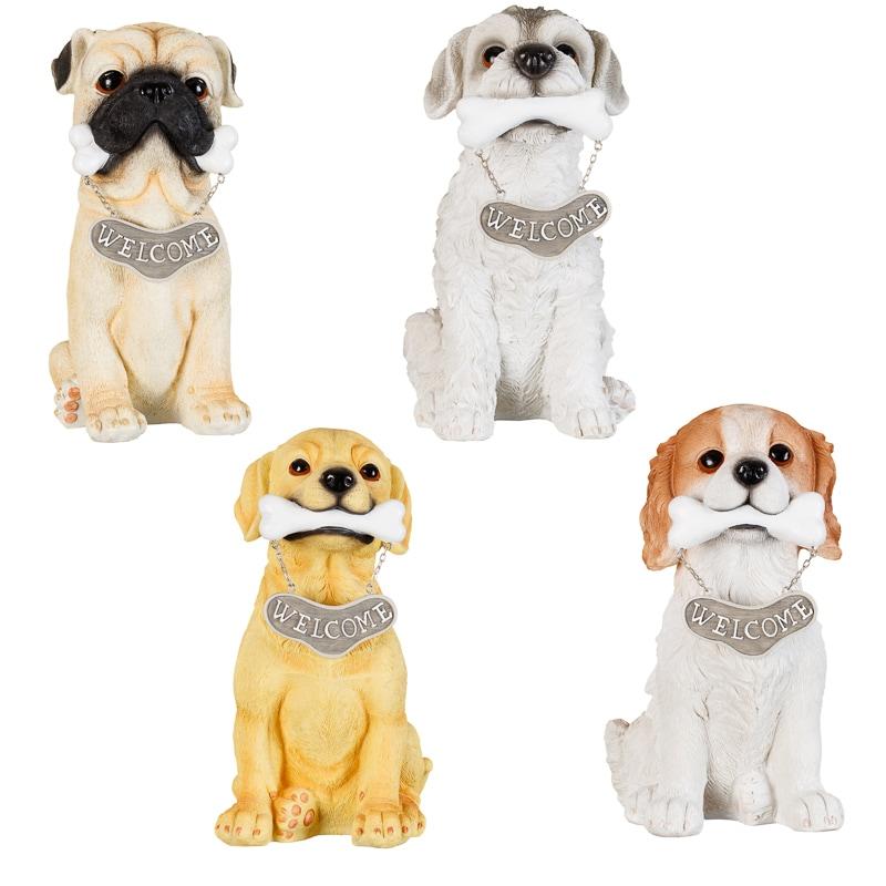 Garden Statues Nh: Welcome Dog Garden Statue - Spaniel
