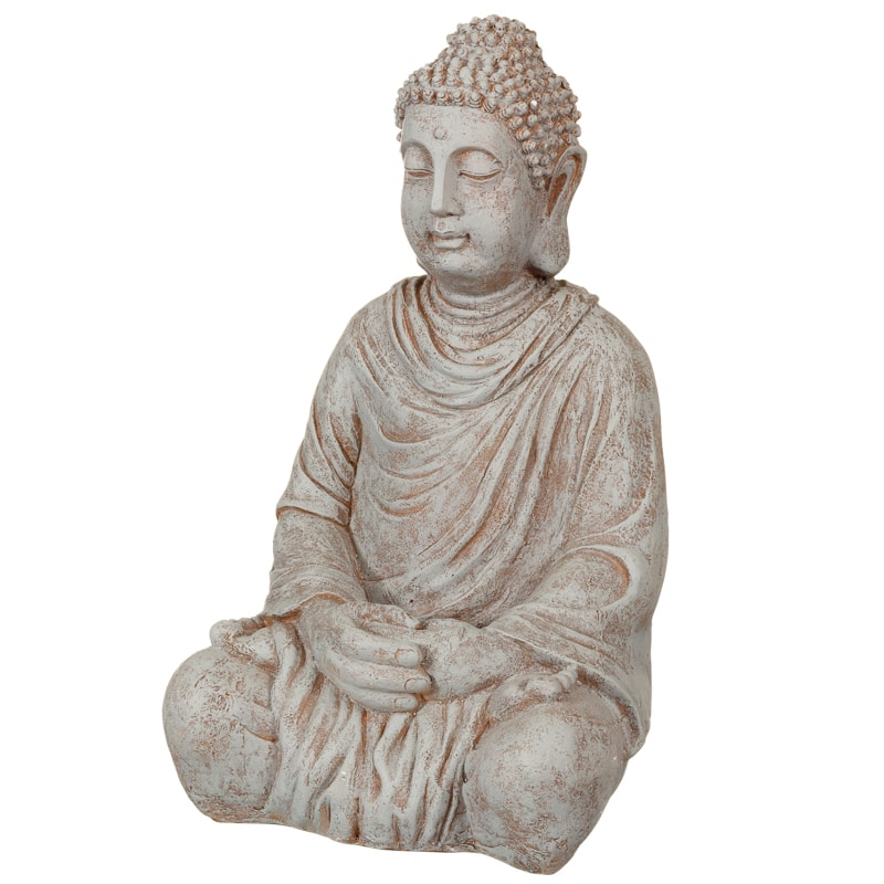 Xl Stone Effect Buddha Statue Garden Decorations B Amp M