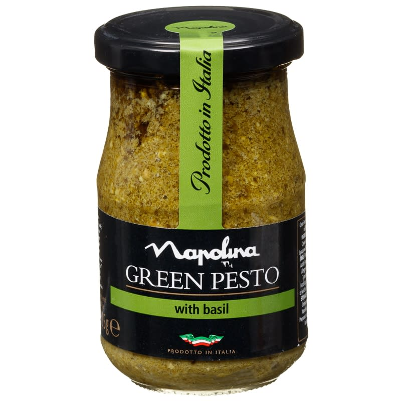 Napolina Green Pesto With Basil 185g Sauces B Amp M