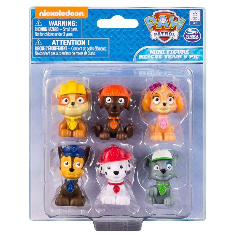 Paw Patrol Mini Figure Rescue Team 6pk Kids Toys B Amp M