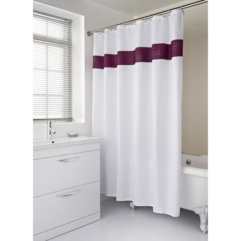319377 Shower Curtain Plum