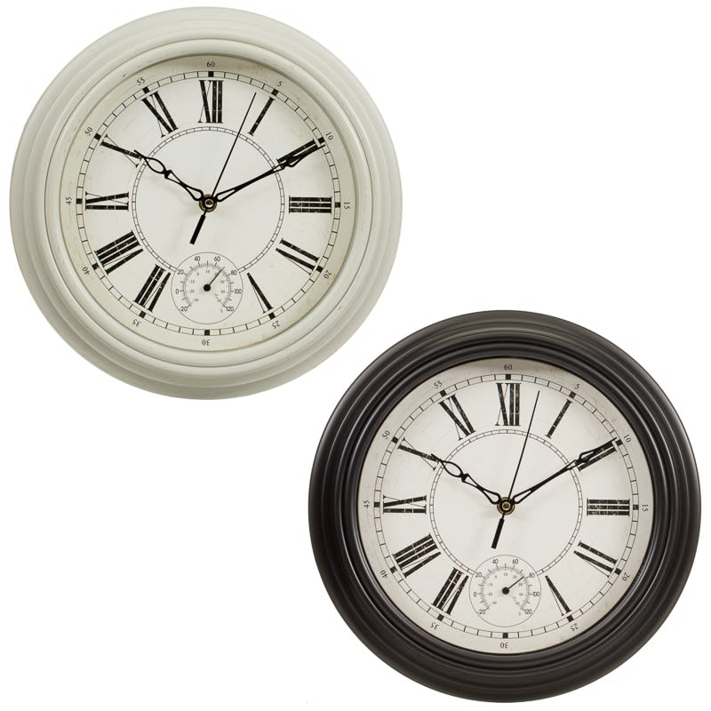 Traditional Lincoln Wall Clock - Cream