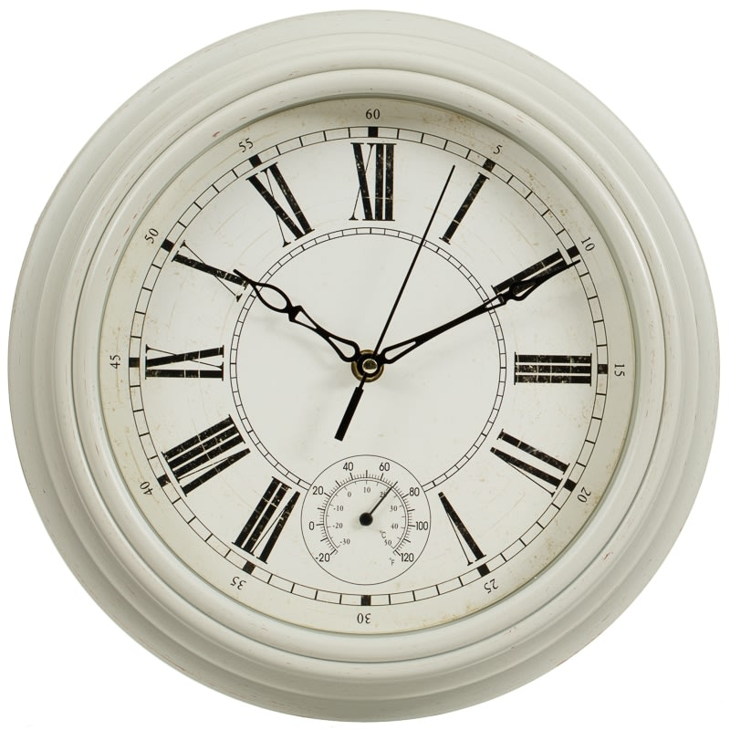 Traditional Lincoln Wall Clock Cream Home Decor B Amp M