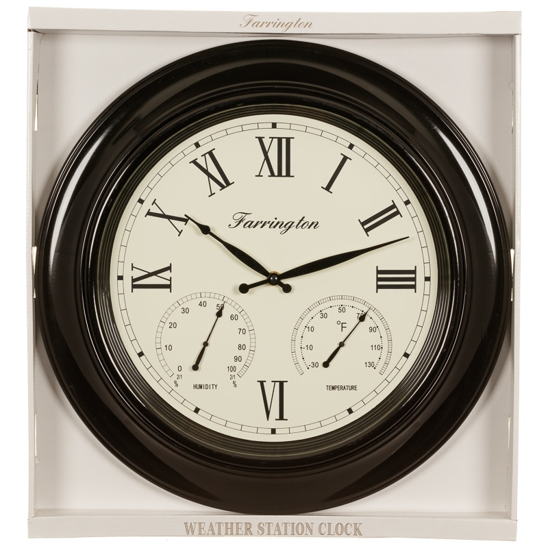 Weather Station Clock Home Decor B Amp M Stores