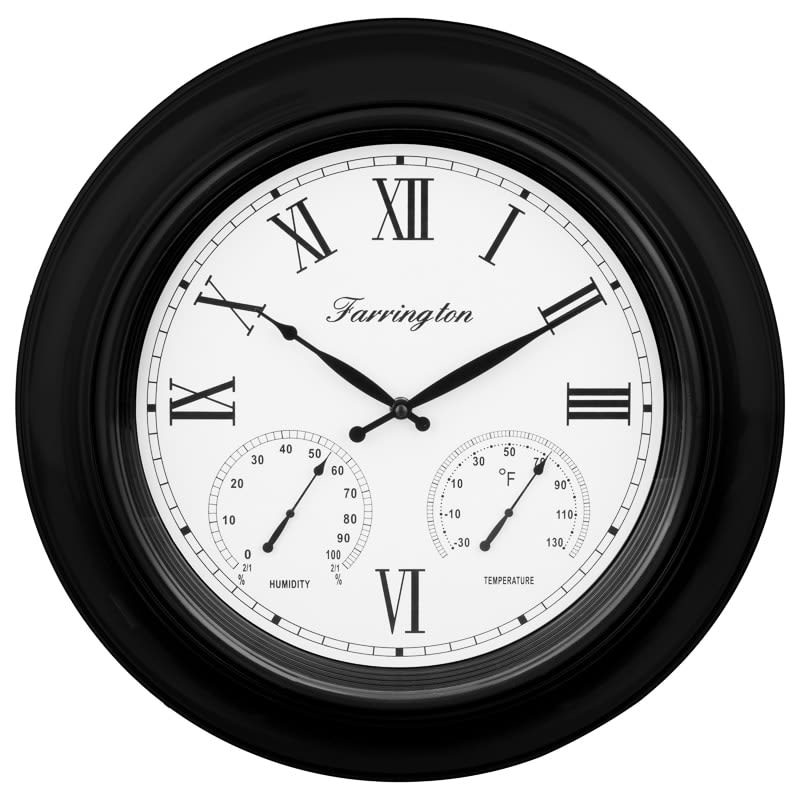 Weather Station Clock - Black
