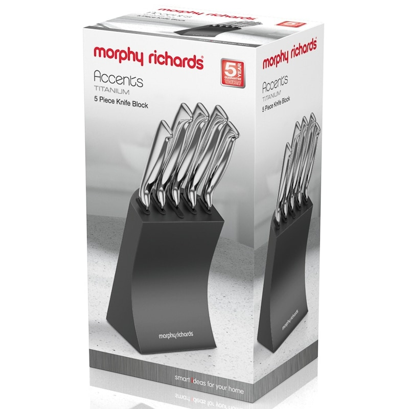 Morphy Richards Knife Block 5pk Kitchen B Amp M