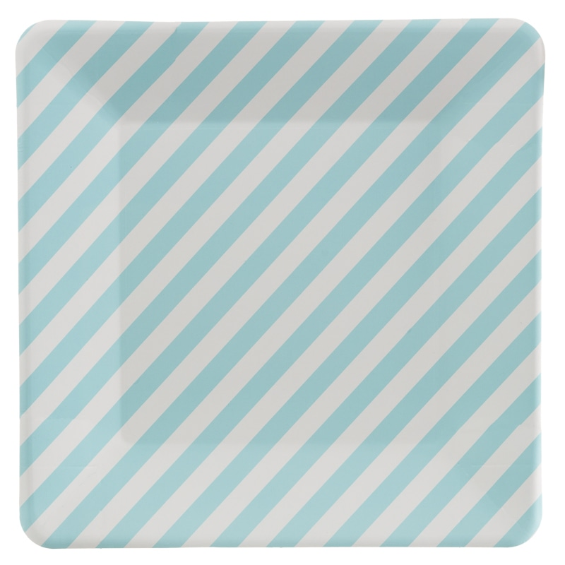 319836-20-Pk-Square-Paper-Plates-blue-stripe  sc 1 st  B\u0026M & Square Paper Plates 20pk | Picnic Essentials - B\u0026M Stores