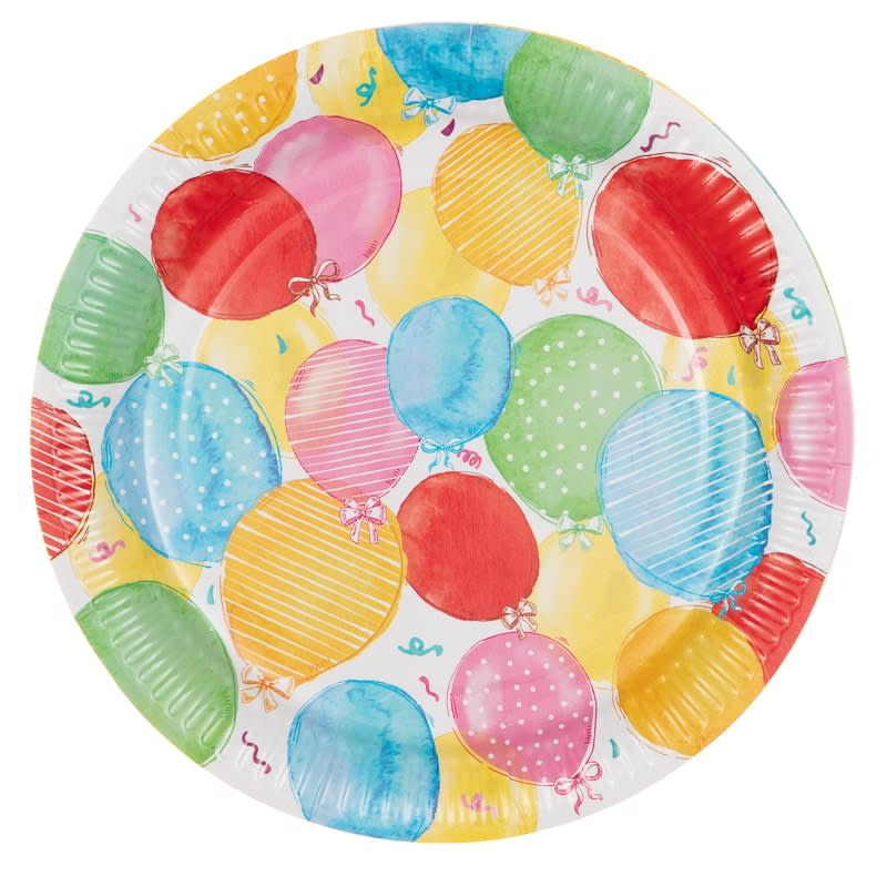 Round Printed Paper Plates 20pk