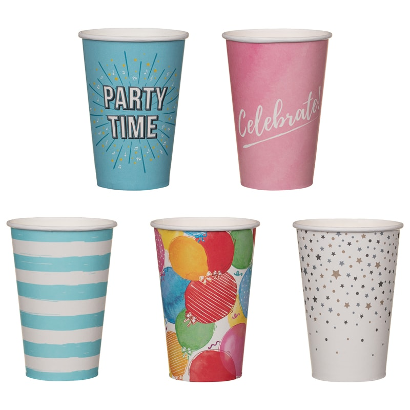 Paper Cups 20pk - Balloons