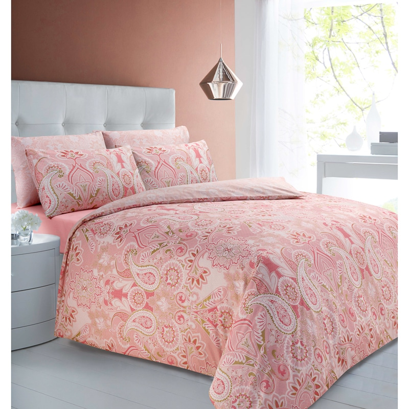 Coral And Gold Toddler Bedding