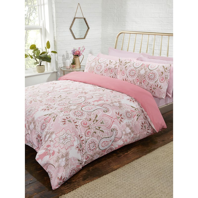 Metallic Paisley King Size Duvet Set Bedding Duvet