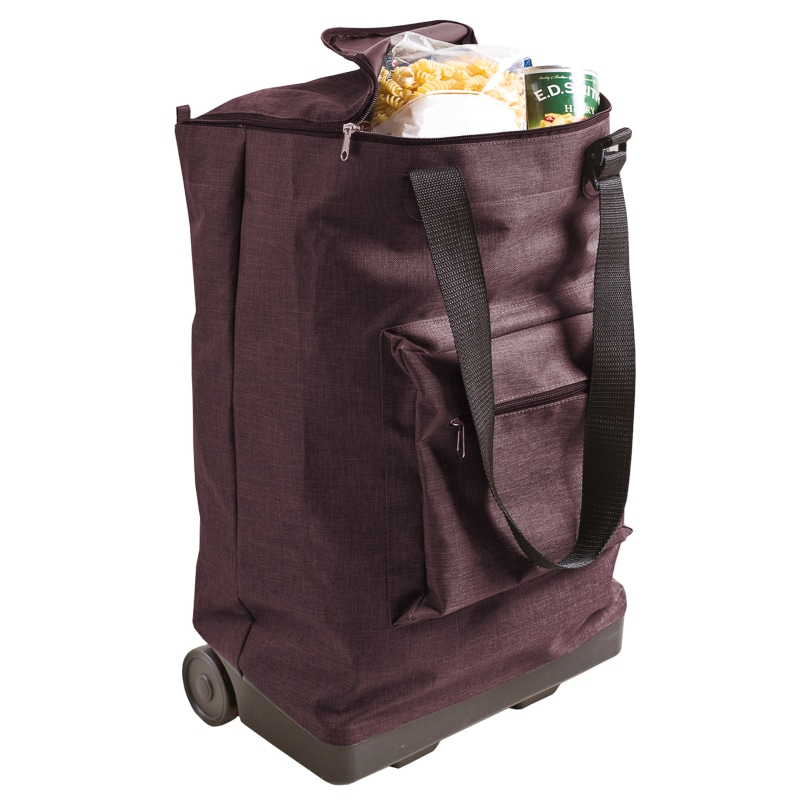 Foldaway Shopping Trolley - Purple